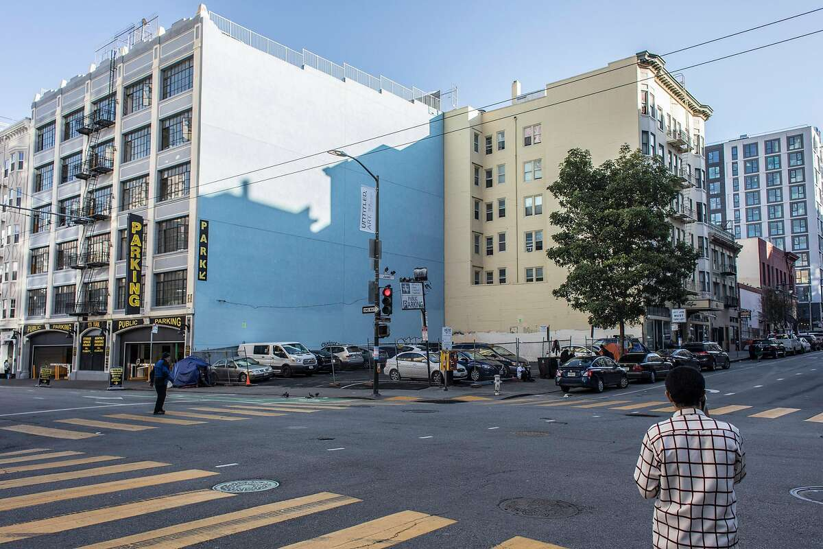 The city of San Francisco rejected a proposal to build tiny units for the homeless on a parking lot at 180 Jones Street.
