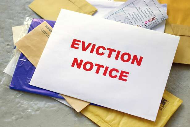 Eviction notice in the post