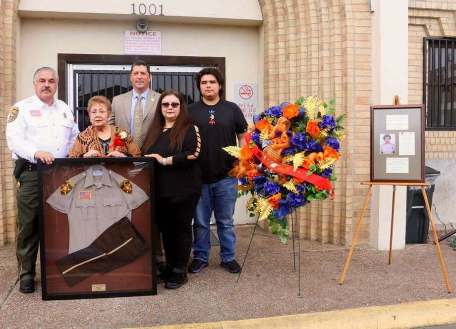 """The Webb County Sheriff's Office held a remembrance ceremony to commemorate the 34th anniversary of the passing of Correctional Officer Jose Gerardo """"Curly"""" Herrera. He died in the line of duty. Photo: Courtesy"""