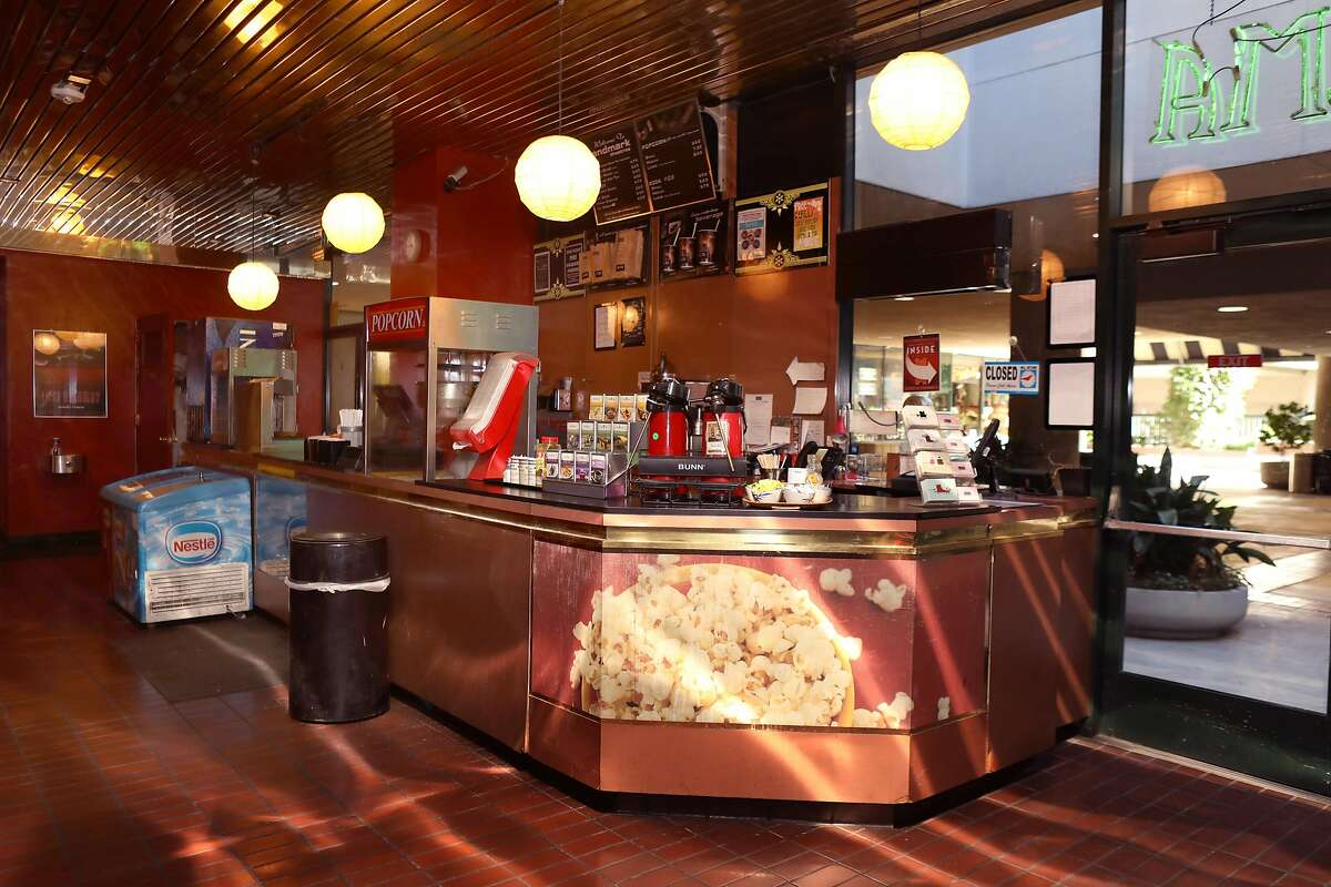 View of the concession stand seen at the Opera Plaza movie theater on Tuesday, Feb. 4, 2020, in San Francisco, Calif.