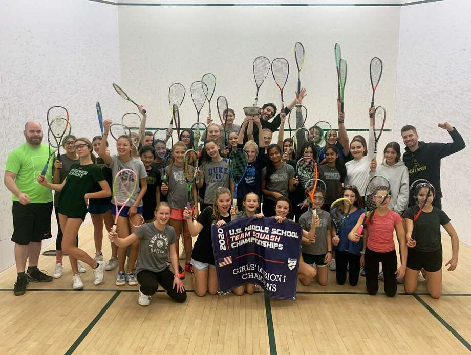 Greenwich Academy captured the U.S. Middle School Squash Team Championships over the weekend at Yale University. Photo: Contributed Photo