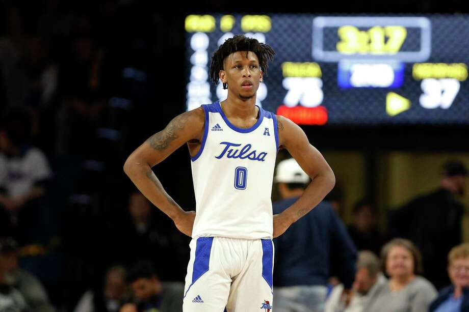Brandon Rachal and Tulsa will hos the UConn men's basketball team on Thursday. Photo: Joey Johnson / Associated Press / Copyright 2020 The Associated Press. All rights reserved.