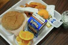 A Brookside Elementary School lunch Thursday, April 6, 2017, in Norwalk, Conn. A report on Norwalk Public Schools' food service operations found a need for widespread change, citing issues such as poor food quality, lackluster leadership, minimal scratch-made food and more.