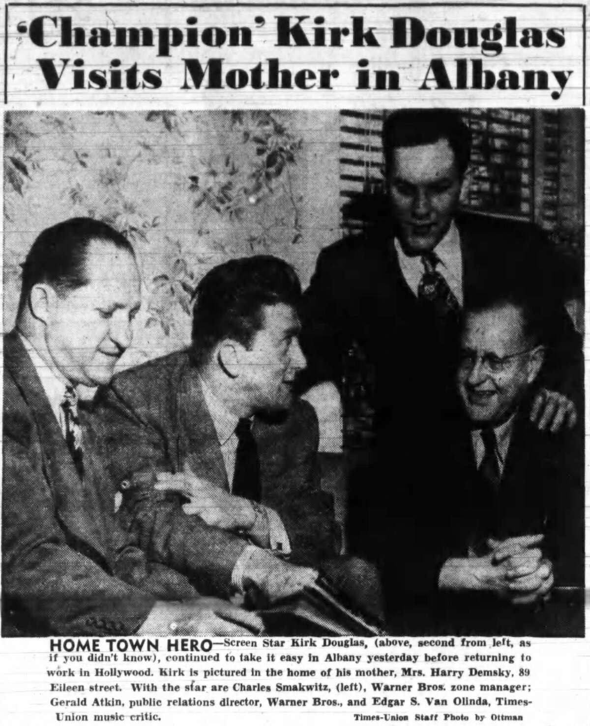 From a story in the April 14, 1949 edition of the Albany Times Union:
