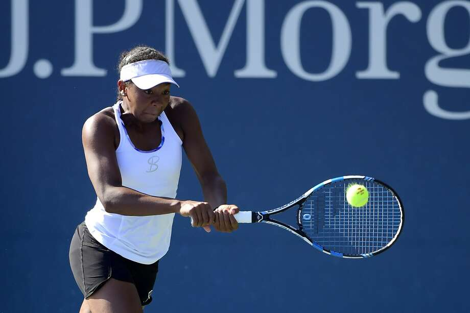 New Jersey native Robin Anderson returns a shot to her opponent during an Aug. 20, 2019 qualifying match at the U.S. Open in New York City. Anderson, the eighth seed at this week's Dow Tennis Classic, overcame a slow start Wednesday to beat Serbia's Jovana Jovic in three sets in the opening round of DTC singles play. Photo: Getty Images / 2019 Steven Ryan