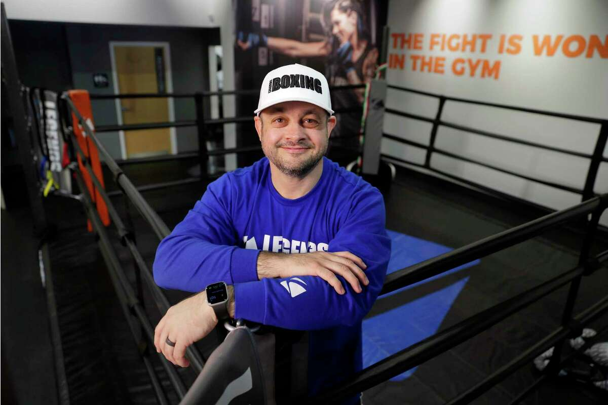 Kevin Blodgett, a former corporate attorney who now has the Legends Boxing gym, at the ring in the gym Saturday, Jan. 25, 2020 in Houston, TX.