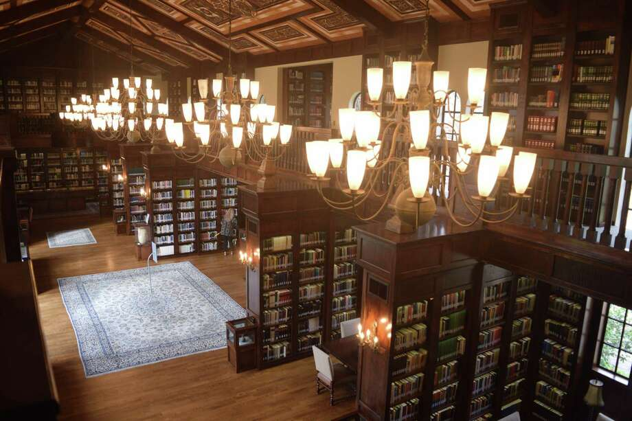 The Lanier Theological Library has a design based on buildings on the University of Oxford campus. The library has multiple work spaces, screens and resources for researchers. Photo: Chevall Pryce
