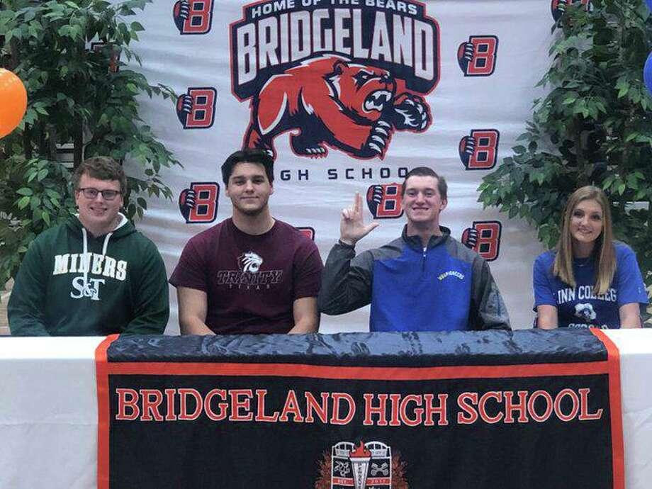 Bridgeland athletes signed their letters of intent during National Signing Day, Feb. 5, at Bridgeland High School. Photo: Tommy Yarrish/Bridgeland
