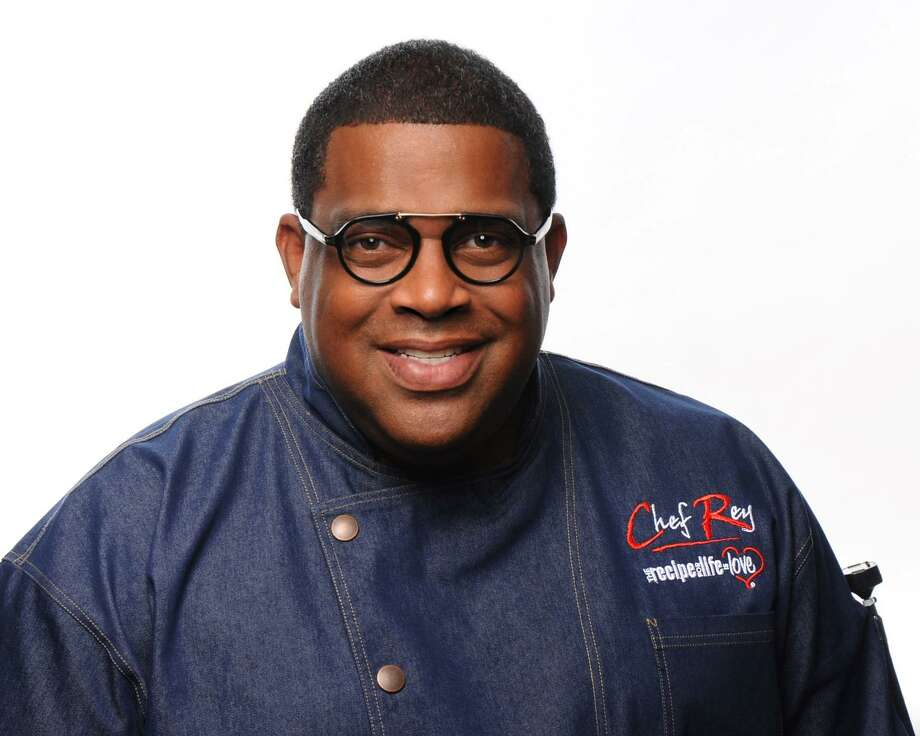 "Reynold ""Chef Rey"" Darthard, former chef for the Houston Astros, Rockets and Dynamo and now personal chef, introduces his new book ""15 Years in 12 Minutes: Making Your Dreams Come True."" Photo: Photo By Al Torres Photography"