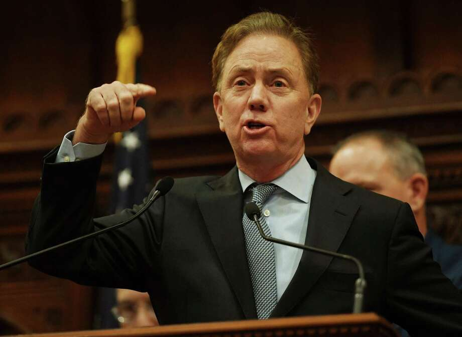 Gov. Ned Lamont addresses senators, representatives, and invited guests during the opening session of the state legislature in Hartford on Wednesday. Photo: Brian A. Pounds / Hearst Conn. Media / Connecticut Post