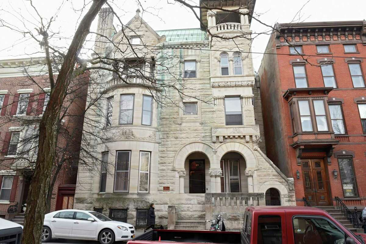 he Castle --(John Paine Mansion and Phi Kappa Alha Fraternity) 49 Second St. could be a filming location for the HBO television series The Gilded Age season one on Wednesday, Feb. 5, 2020 in Troy, N.Y. (Lori Van Buren/Times Union)