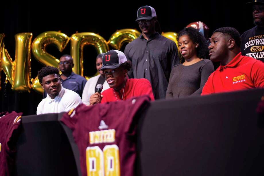 Beaumont United quarterback Zemaiah Vaughn signed with Utah on Wednesday. Photo by Colby Knox Photo: Colby Knox / Colby Knox / Special To The Enterprise