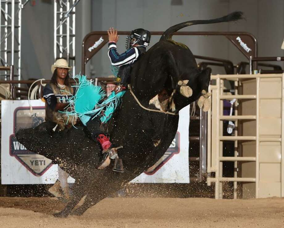 "TaDarius Miles, a teen bull rider, has won numerous competitions and has a role in the new film ""Bull"", which debuts this March. Photo: Courtesy Of Kim Branch"