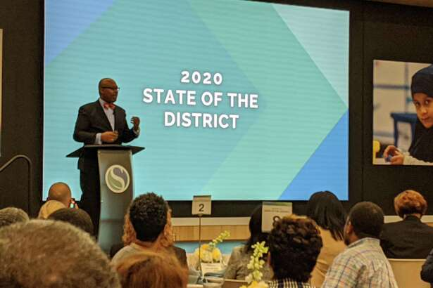 Spring ISD Superintendent gives the 2020 State of the District address to Spring residents Feb. 5 at the Randall Reed Center, 23802 Cypresswood Drive.