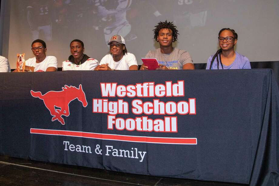 Westfield football and volleyball athletes signed their letters of intent during National Signing Day, Feb. 5, at Westfield High School. Photo: Spring ISD / SPRING ISD SPRING ISD
