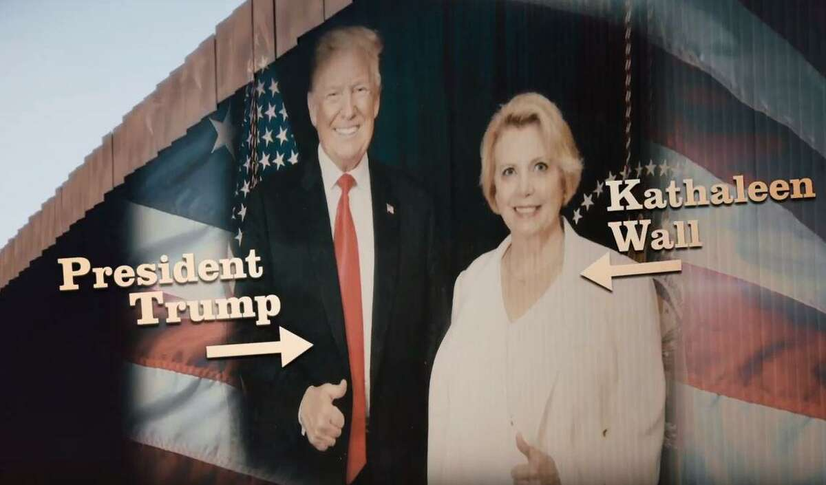 Republican Kathaleen Wall has put $1.6 million of her own money into her congressional campaign. The money has largely gone to TV ads in which she portrays herself as the biggest advocate of President Donald Trump and his push to build a wall at the Mexican border.