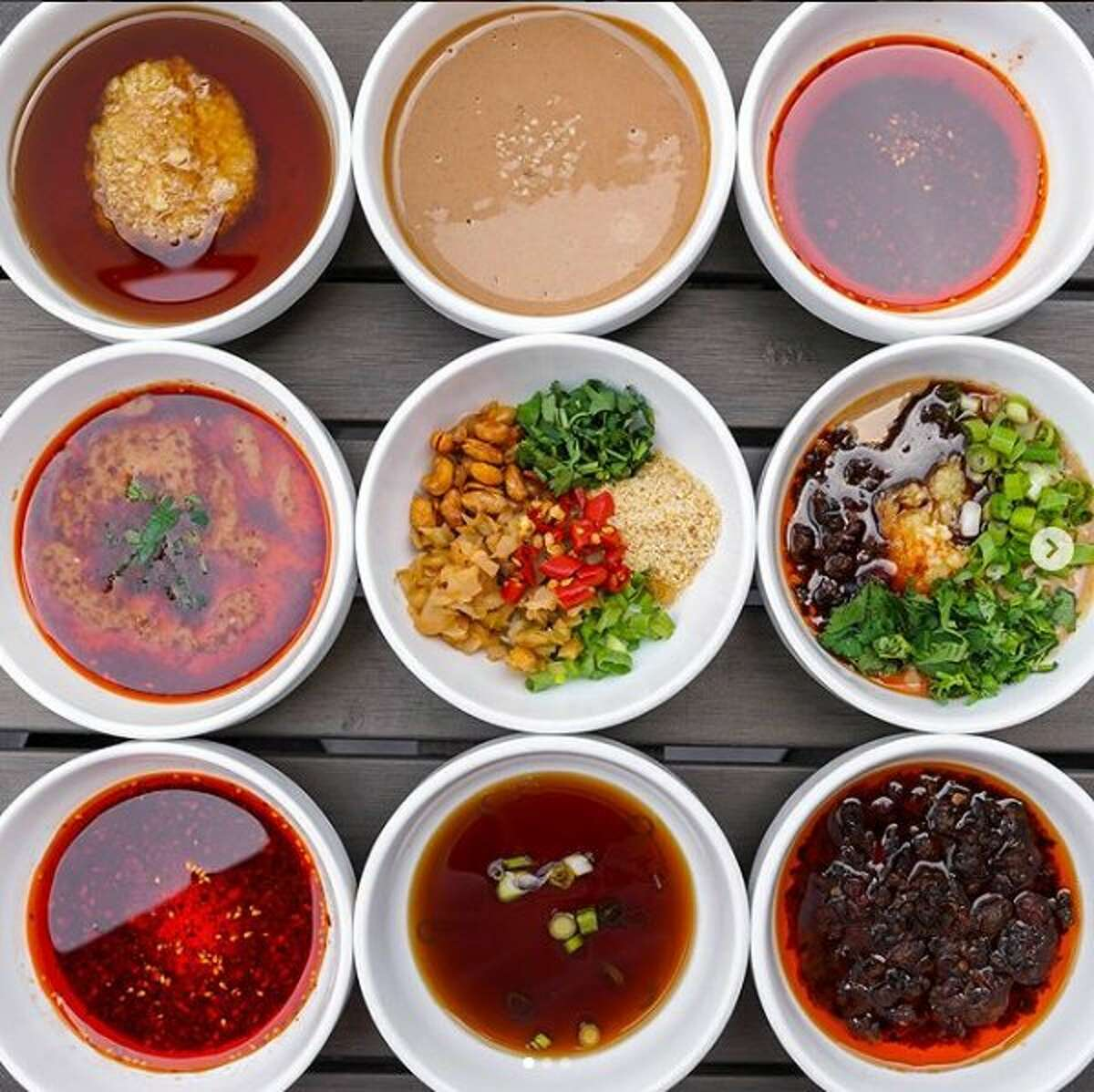 Haidilao is known for offering guests individual hotpot dishes with a variety of broth flavors, such as the Sichuan style spicy broth, vegetarian mushroom broth and popular tangy tomato broth; as well as various meats, such as lamb, beef and pork.