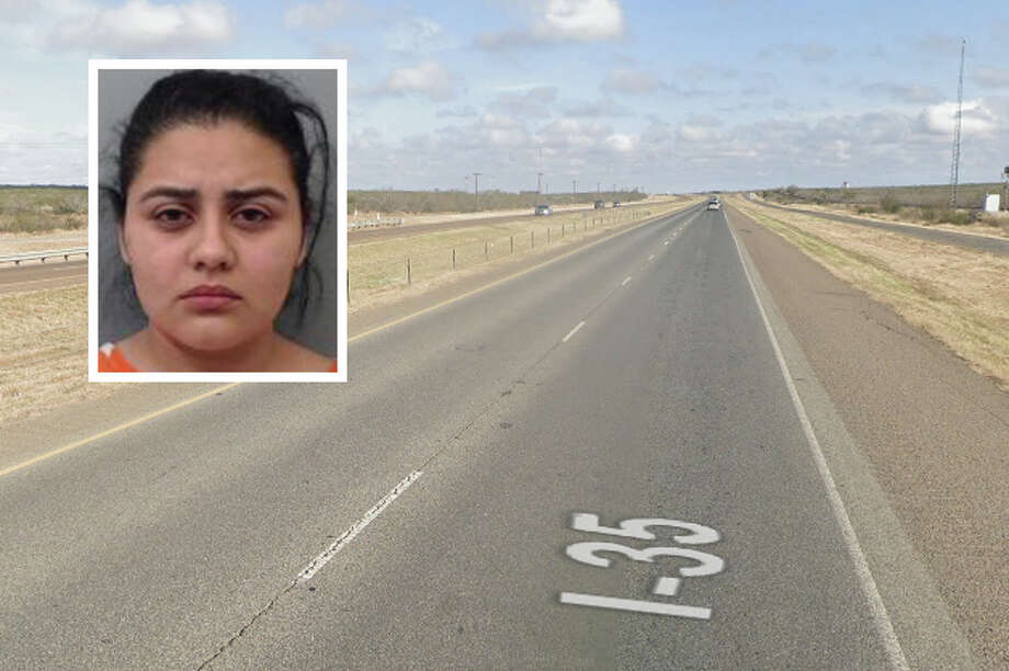 A woman has been arrested for allegedly driving on the wrong way on Interstate 35. Photo: Courtesy