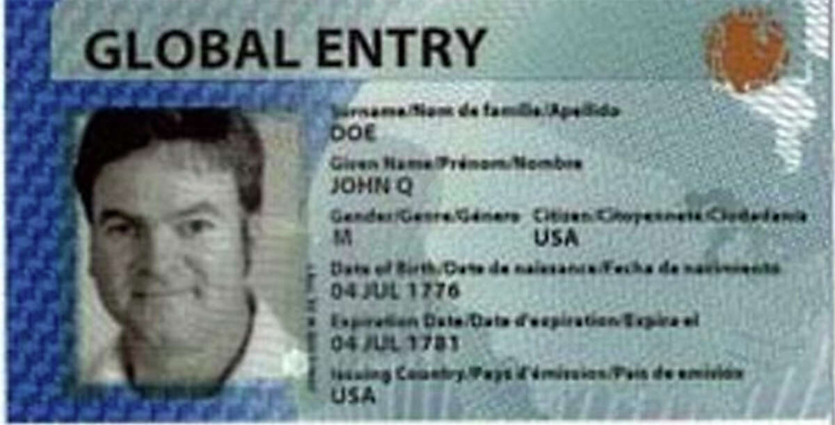 A DHS Global Entry membership card.