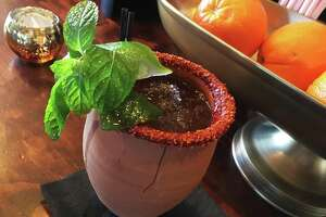 The Mexican Mule at Espuelas is one of the signature drinks on the cocktail menu.