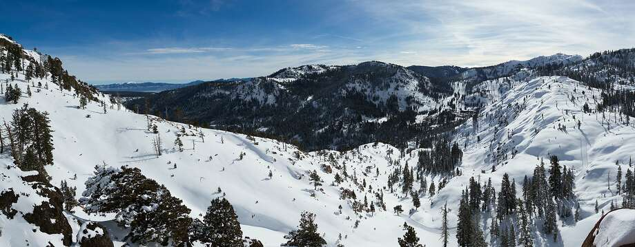 A proposed base-to-base gondola that would connect Squaw Valley and Alpine Meadows ski resorts through the mountains in North Tahoe got the go-ahead for construction when Squaw-Alpine reached an agreement with environmentalists this week to dismiss a lawsuit. Photo: Courtesy Squaw-Alpine