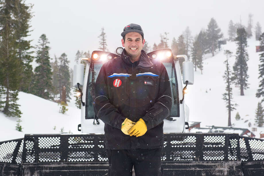 Bryan Hickman is the senior manager of snow services for Heavenly Ski Resort and you can find him on one of Heavenly's 20 snowcats most days. He gives us a look inside on Jan. 21, 2020. Photo: Blair Heagerty / SFGate