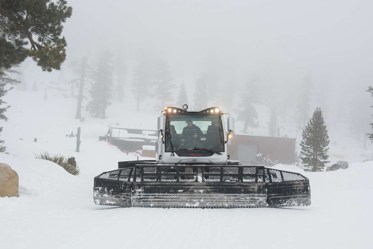 A view ofone of Heavenly's 20 snowcats at work.