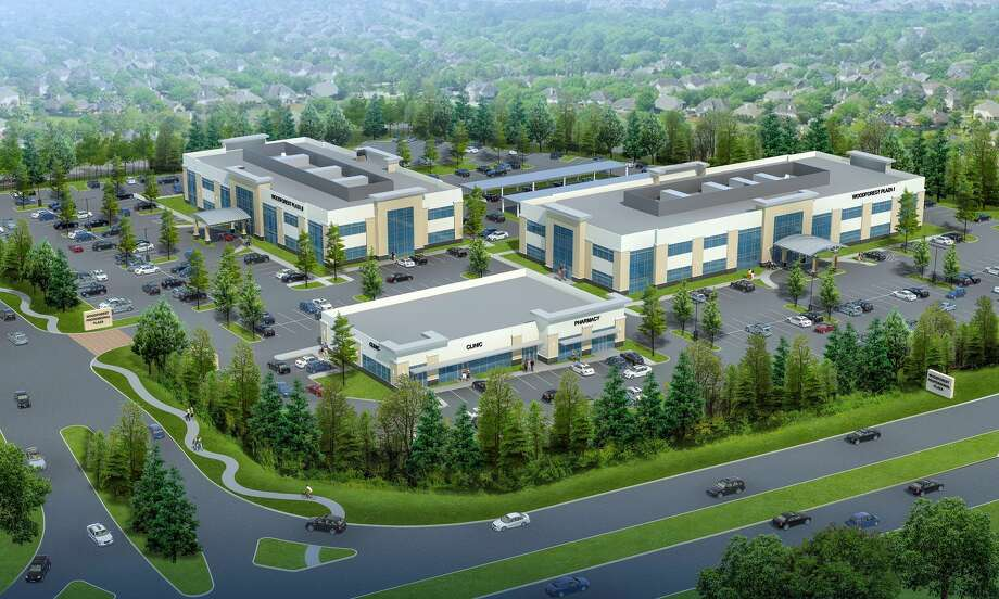 Woodforest Professional Plaza at Fish Creek will consist of three buildings totaling 100,000 square feet at the northwest corner of Central Pine Street and Fish Creek Thoroughfare in Montgomery. Photo: The J. Beard Real Estate Co.