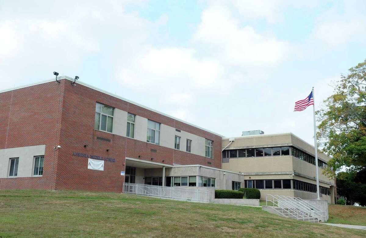 Ansonia Middle School exterior taken Friday, Sept. 4, 2015.