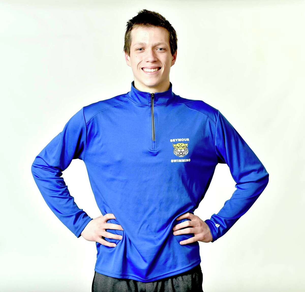 New Haven, Connecticut - Tuesday, March 26, 2019: WINTER ALL AREA PLUS - BOYS SWIMMING: Jack Crocamo, Seymour HS