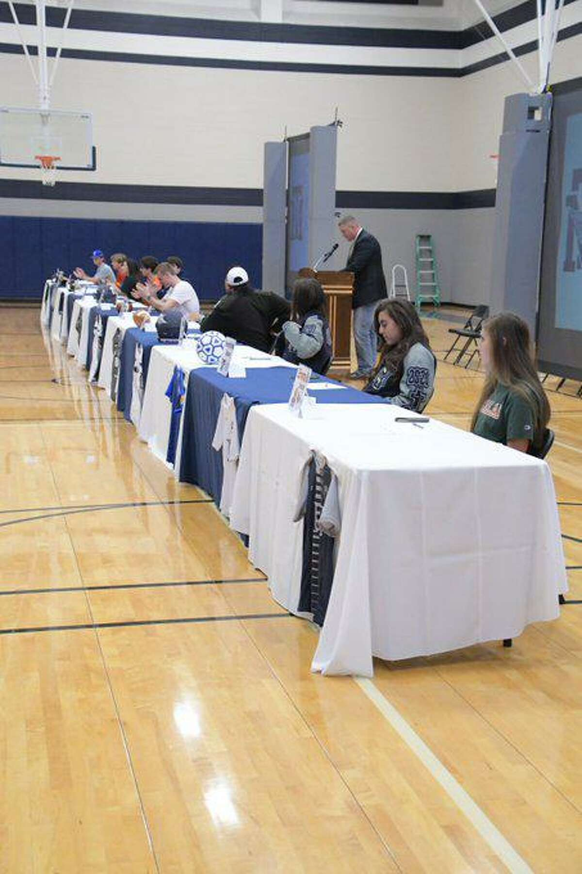 Tomball Memorial student-athletes signed their letters of intent during National Signing Day, Feb. 5, at Tomball Memorial High School.