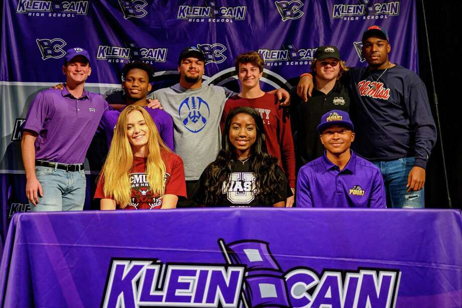 Klein Cain student-athletics signed their letters of intent during National Signing Day, Feb. 5, at Klein Forest High School. Photo: Klein ISD