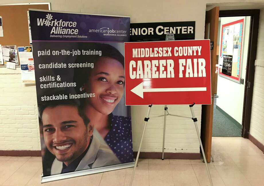 The Middlesex County Chamber of Commerce, in conjunction with Workforce Alliance of Middletown partnered on a employment fair for local workers who lost their jobs due to the recent closure of the Red Lion Hotel in Cromwell. Photo: Jeff Mill
