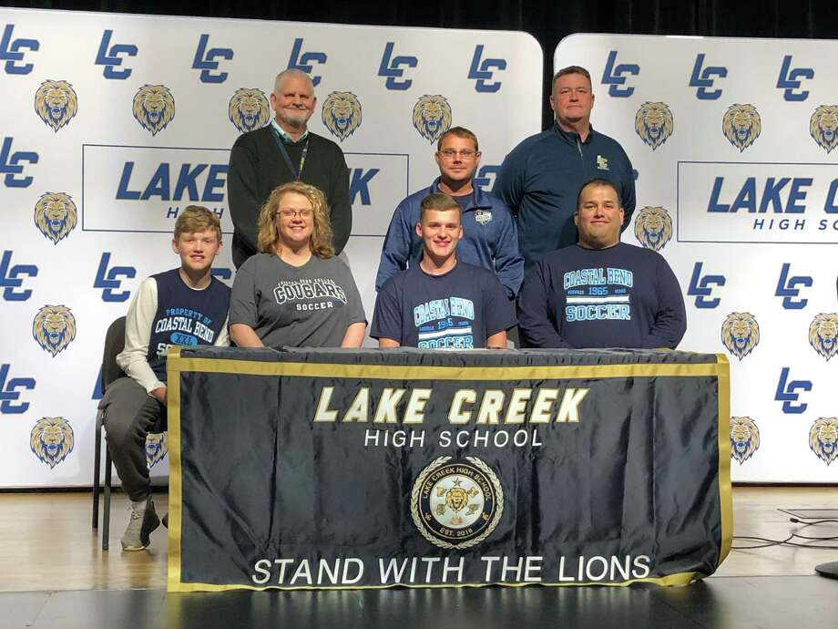 Lake Creek boys soccer player David Chapa signed to continue his career at Coastal Bend College on Wednesday. Photo: Submitted Photo