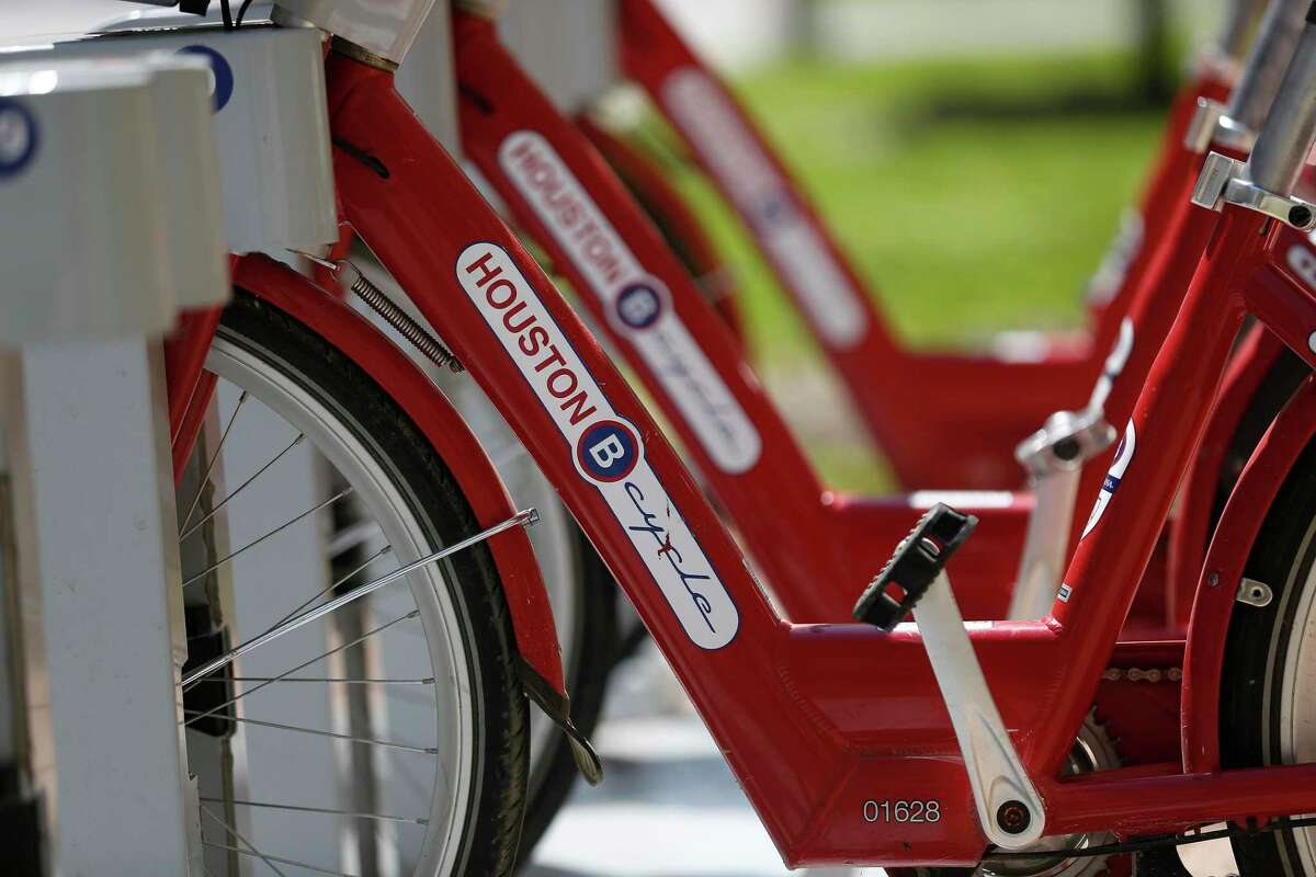The BCycle bike sharing system has expanded to 109 locations in Houston, including the Heights M-K-T station.