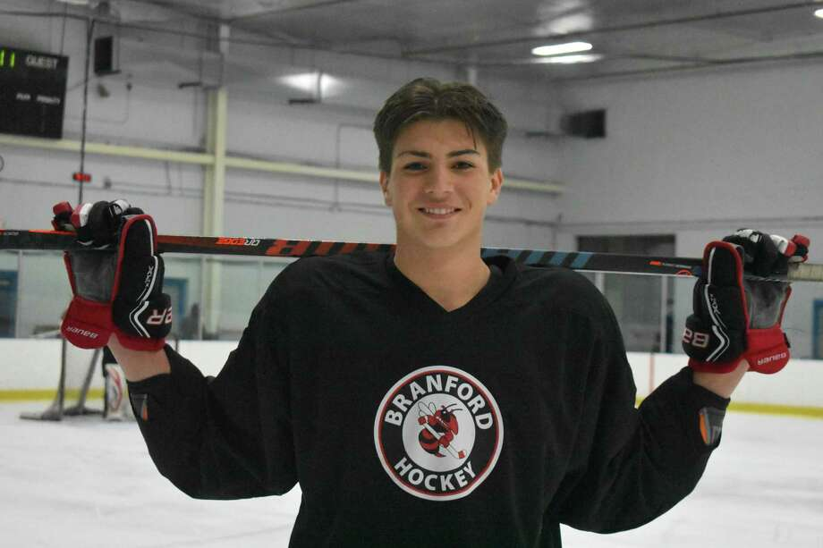Branford's Chris Donadio has recovery fully from an injury that cost him a chance to play the full Division II state championship game. Photo: Pete Paguaga / Hearst Connecticut Media