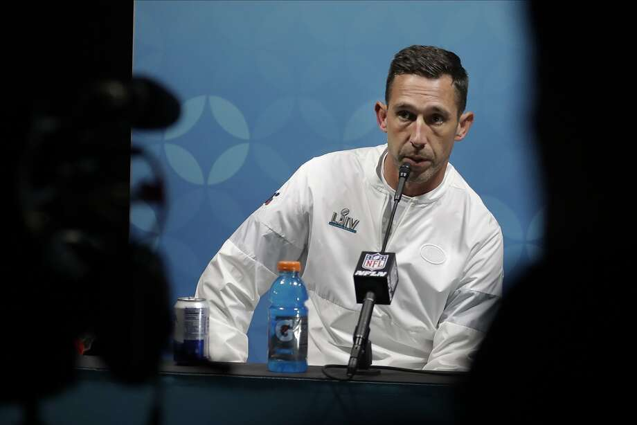 San Francisco 49ers head coach Kyle Shanahan speaks during a news conference after the NFL Super Bowl 54 football game against the Kansas City Chiefs Sunday, Feb. 2, 2020, in Miami Gardens, Fla. (AP Photo/John Bazemore) Photo: John Bazemore, Associated Press