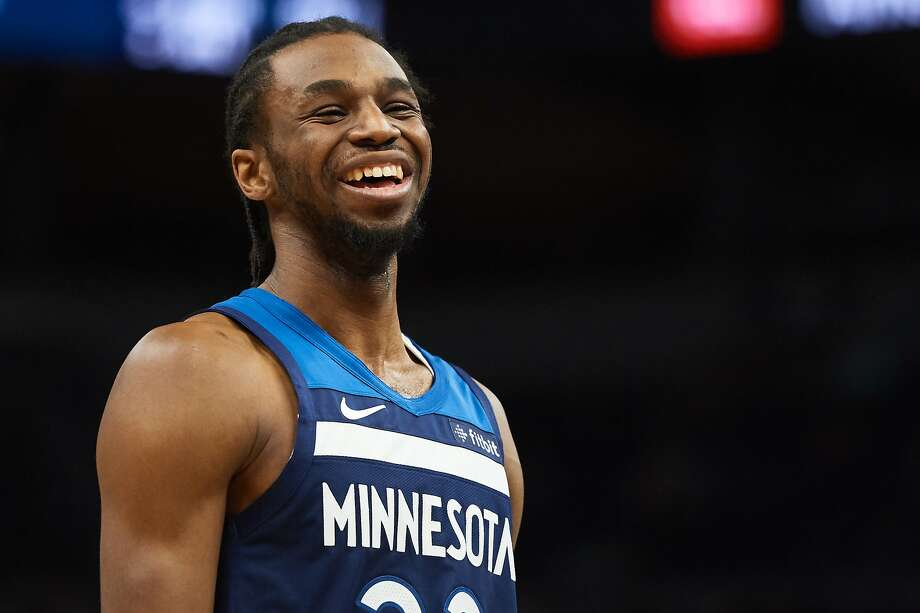 Andrew Wiggins #22 of the Minnesota Timberwolves looks on during the game against the Golden State Warriors on March 29, 2019 at the Target Center in Minneapolis, Minnesota. Photo: Hannah Foslien, Getty Images