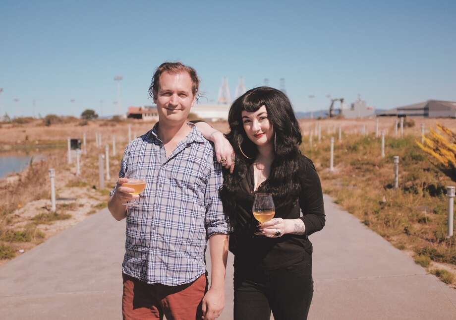(L-R): Aaron Gervais and Stellar Cassidy, co-founders of Otherwise Brewing in San Francisco, Calif. Photo: Photo By Starr Kutchins / Copyright 2019. All rights reserved.