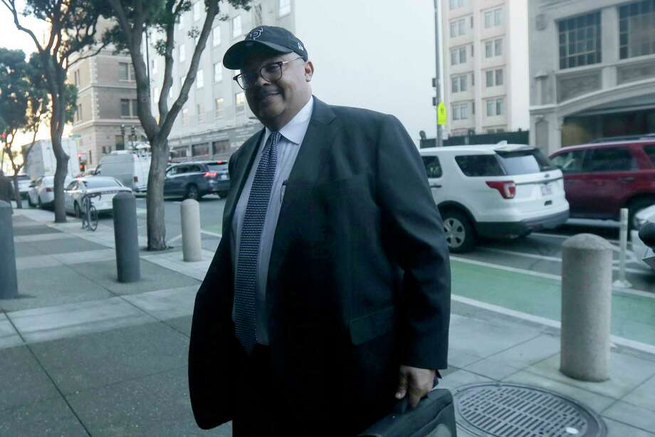 Mohammed Nuru, director of San Francisco Public Works, arrives at a federal courthouse in San Francisco, Thursday, Feb. 6, 2020. (AP Photo/Jeff Chiu) Photo: Jeff Chiu / Copyright 2020 The Associated Press. All rights reserved