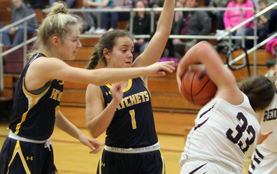 The Bad Axe girls basketball team picked up a 46-26 road win on Thursday night. The Bad Axe girls basketball team picked up a 46-26 road win on Thursday night. Photo: Eric Rutter/Huron Daily Tribune