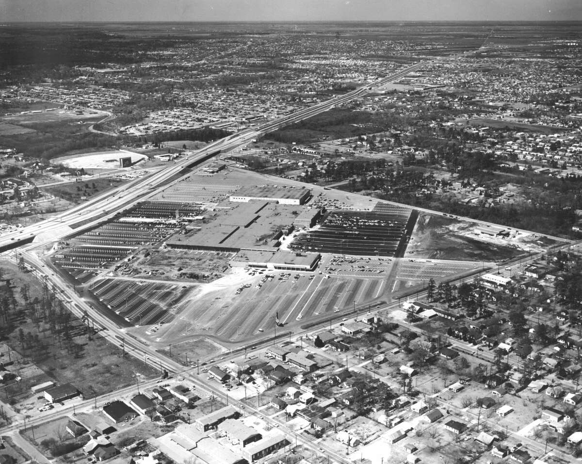Northline Shopping City, aka Northline Mall, looking northwest, circa 1963.