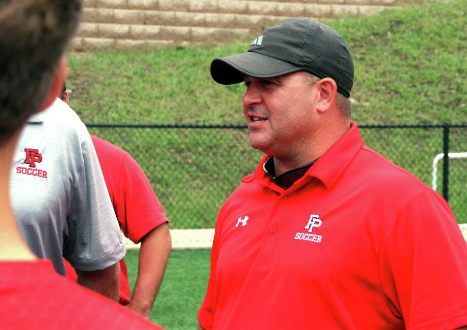 Fairfield Prep coach Ryan Lyddy against Hillhouse in 2018. Photo: Christian Abraham / Hearst Connecticut Media / Connecticut Post