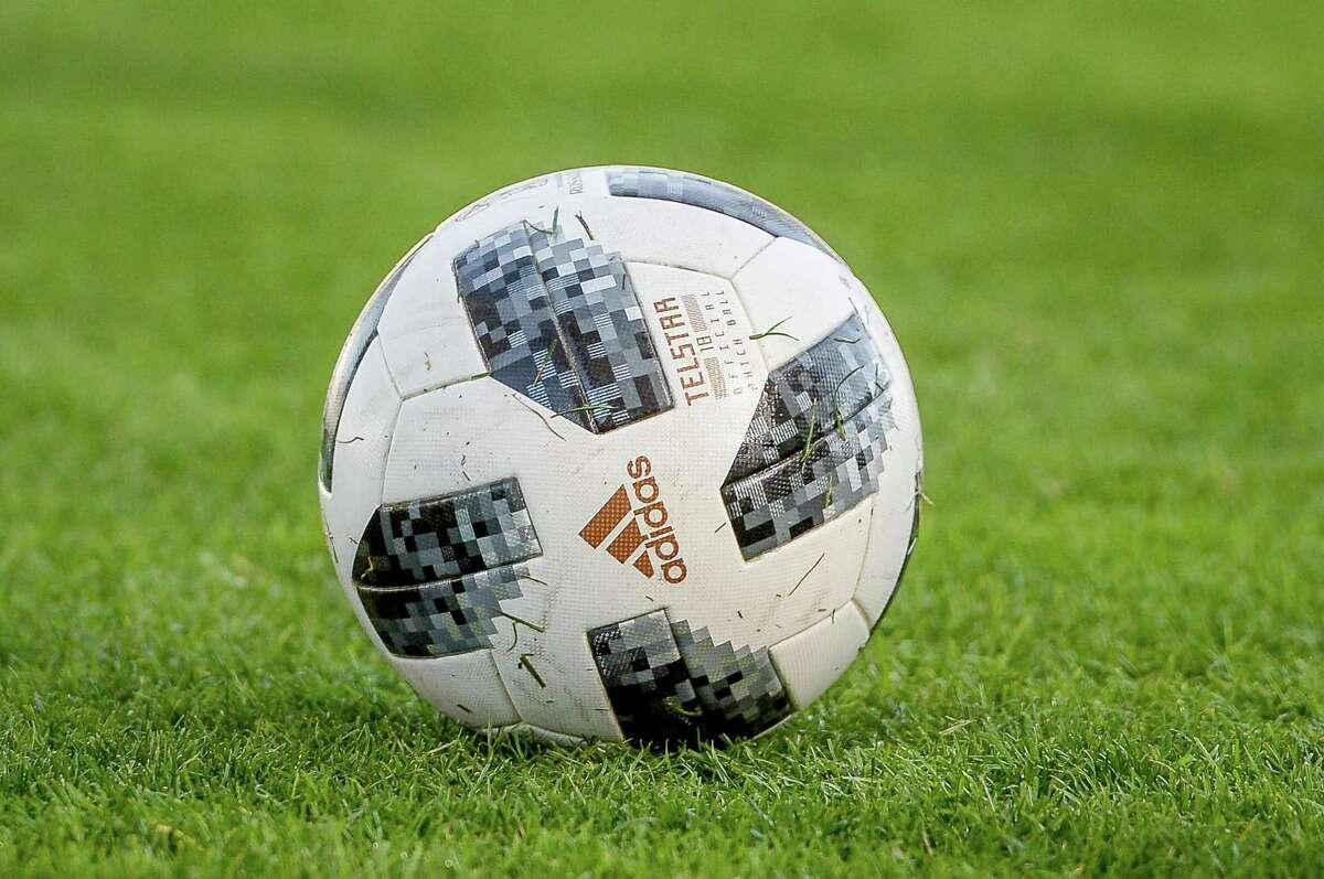 An official Addidas soccer ball.