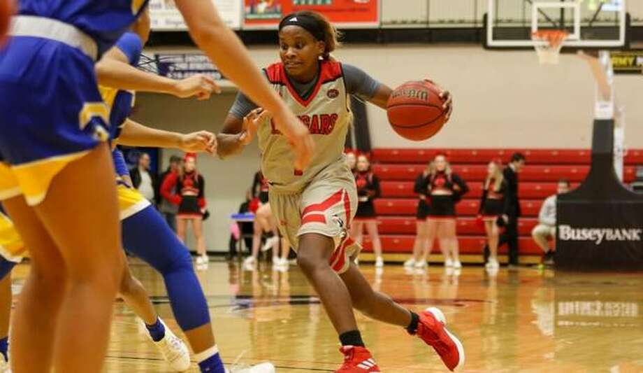 SIUE guard Christen King drives to the basket during Thursday's home game against Morehead State. Photo: SIUE Athletics