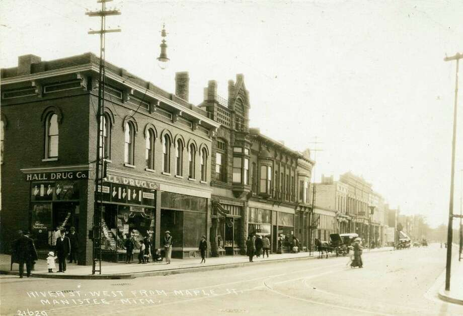 This was the way River Street looked in the late 1890s looking west from the Maple Street intersection.