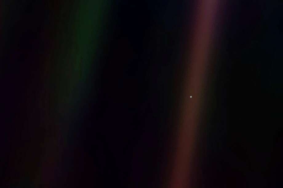 """Friday, Feb. 7: Delta College Planetarium in Bay City will commemorate the 30th anniversary of the photograph """"Pale Blue Dot, the most distant image of Earth, in an event set for 7 p.m. (Photo provided/Delta Planetarium)"""