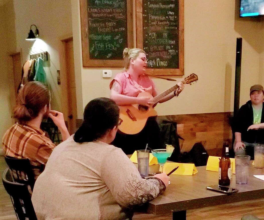 "Seven contestants performed for the first round of open auditions for Manistee Idol Wednesday evening at Taco 'Bout It Mexican Fusion. Co-owner Tarrah Hernandez said the events are a great way to ""showcase what Manistee has to offer as far as talent."" Photo: Photo Provided By Tarrah Hernandez"