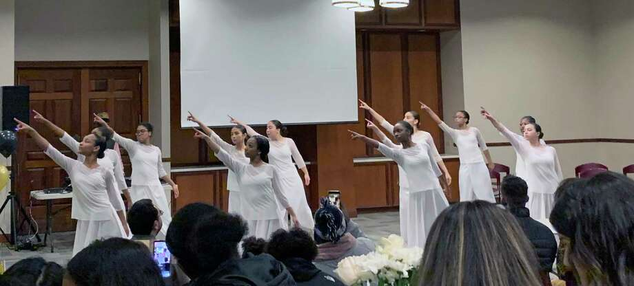 Students from the Regional Center for the Arts performing at the Black History Month celebration in Bridgeport, Conn., on Thursday, Feb. 6, 2020. Photo: Hearst Connecticut Media / Tara O'Neill