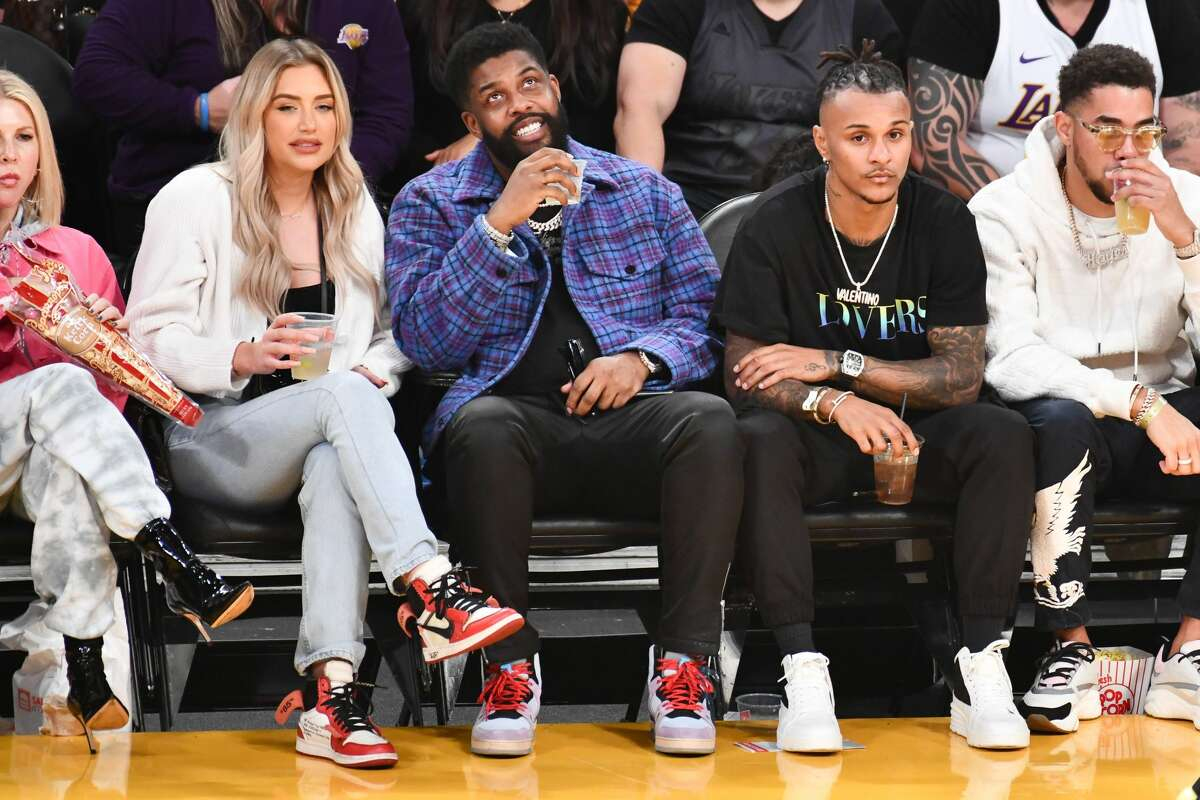 PHOTOS: Celebrities at the Rockets' big win over the Lakers Anastasia Karanikolaou, better known as Stassie Baby on Instagram, and Leon Starino Anderson attend a basketball game between the Los Angeles Lakers and the Houston Rockets at Staples Center on February 06, 2020 in Los Angeles, California. (Photo by Allen Berezovsky/Getty Images) Browse through the photos above for a look at some of the celebrities who witnessed the Rockets run over the Lakers on Thursday night ...
